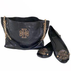 Tory Burch Britten Medium Slouchy Tote Handbag